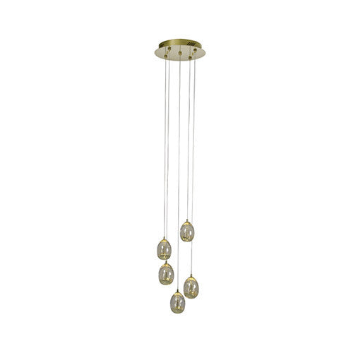 Eurolux Dew Drop 5 Light Pendant P562CH