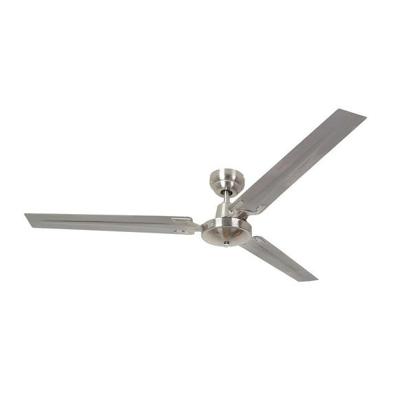 "Eurolux 56"" 3 Blade Industrial Ceiling Fan - Satin Chrome"