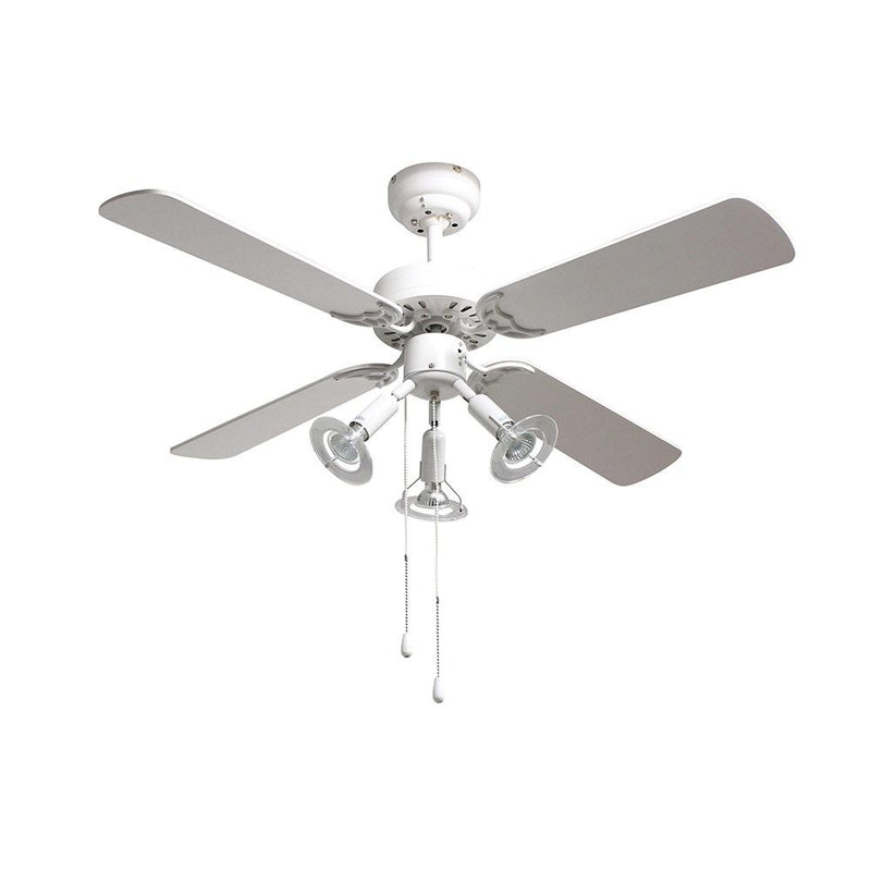 "Eurolux 42"" 4 Blade Premier Ceiling Fan with Light - White"