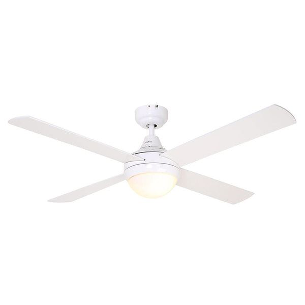 "Eurolux 48"" 4 Blade Twister Ceiling Fan with Light - White"