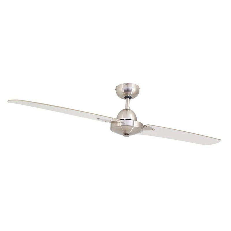 "Eurolux 52"" 2 Blade BMT Spinner Industrial Ceiling Fan - Satin Chrome"