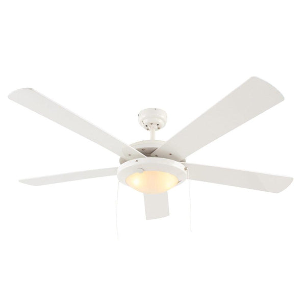 "Eurolux 52"" 5 Blade Comet Ceiling Fan with Light - White"