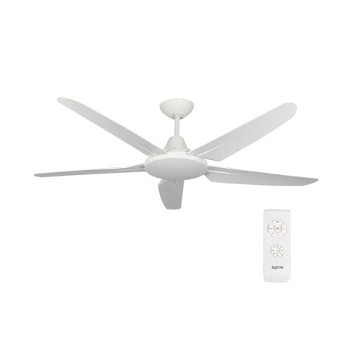 "Bright Star 52"" 5 Blade Ceiling Fan with Remote - White"