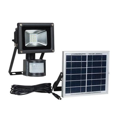 Bright Star LED Flood Light with Solar Panel and Motion Sensor 10W