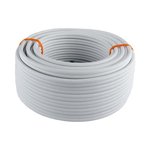 Flat Twin Earth Cable 2 Core 4mm White 10 To 100M