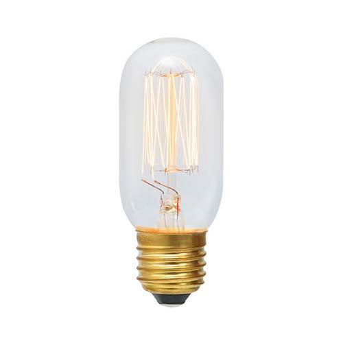 Eurolux E27 40W Round Mini Tubular Squirrel Cage Carbon Filament Bulb