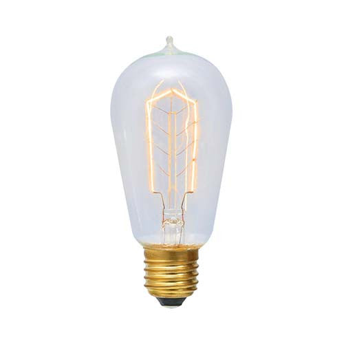 Eurolux E27 60W Pear Shaped Hairpin With Nipple Carbon Filament Bulb