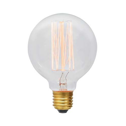 Eurolux E27 60W Mini Globe Squirrel Cage Carbon Filament Bulb 1