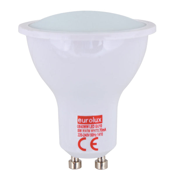 Eurolux LED Plastic GU10 5W Warm White