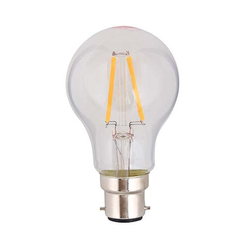 Eurolux LED Clear Filament GlobeA60 B22 4W 360lm Warm White