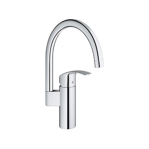 Grohe Eurosmart Single Lever Tall Kitchen Sink Mixer With Swivel Spout