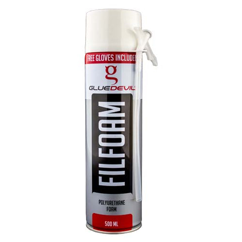 Gluedevil Filler Foam Spray Can 500Ml