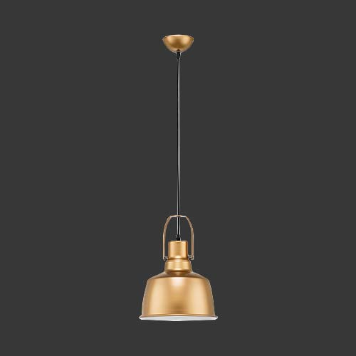 K. Light Nautical Antique Brass & Metal Pendant