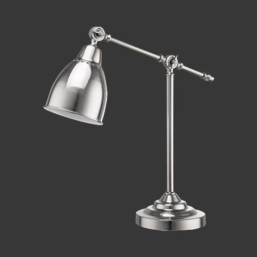 Executive Desk Lamp - Nickel Satin