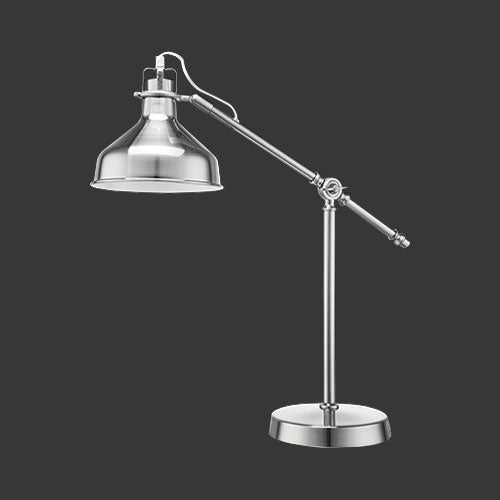 Angle Poise Desk Lamp - Nickel Satin