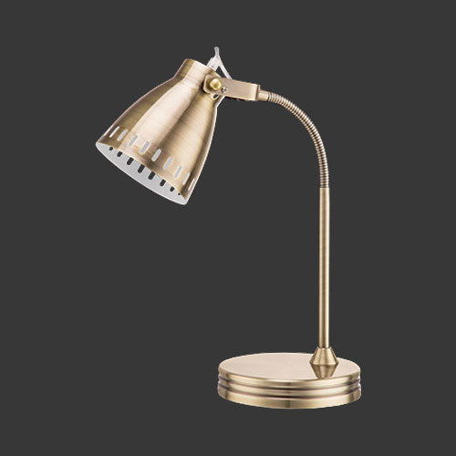 Flexi Desk Lamp - Antique Brass