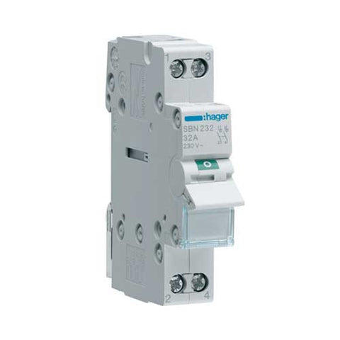 Hager 2 Pole Modular Isolator