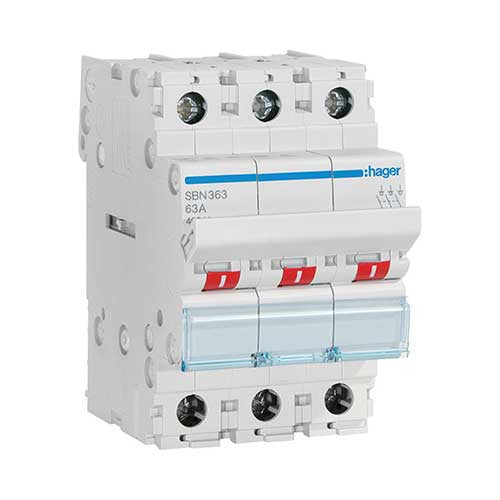 Hager 3 Pole Modular Isolator