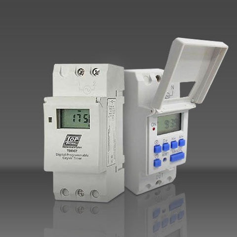 HellermannTyton Top Tronic 7-Day Digital Geyser Timer TDDGT