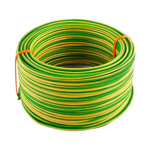 House Wire 4mm Green Yellow 10 To 100M