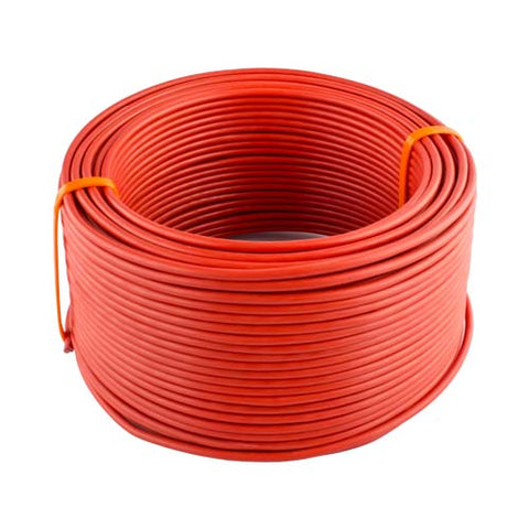 House Wire 4mm Red 10 To 100M