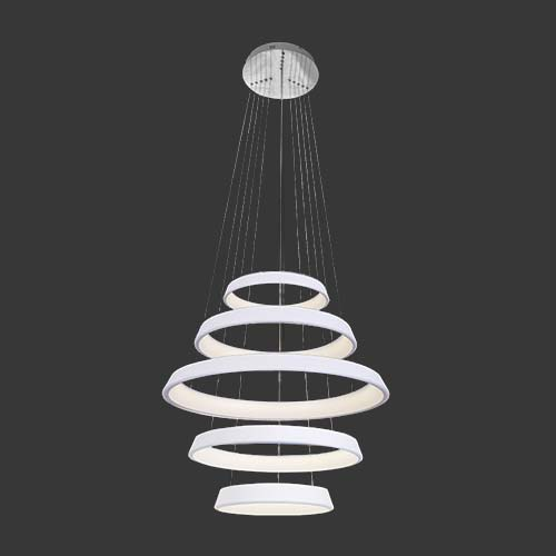 K Light 5 Tier LED Pendant In White