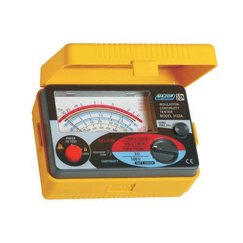 Major Tech Analogue Insulation Tester 250/500/1000V K3132