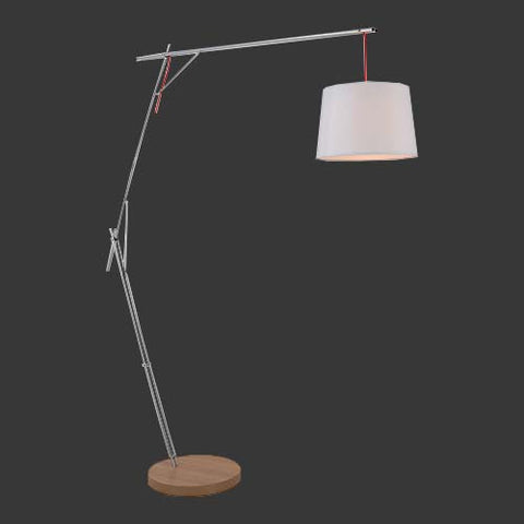 K. Light Cantilever Floor Lamp with White Shade