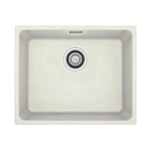 Franke Kubus KBG110-50 Fragranite Undermount Sink White 1250004