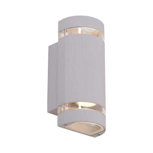 Bright Star Up Down Aluminium Wall Lantern With Glass
