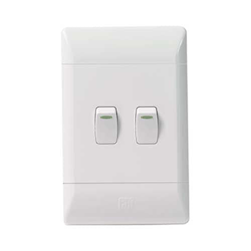 CBi PVC 2 Lever 2 Way Light Switch L123-P