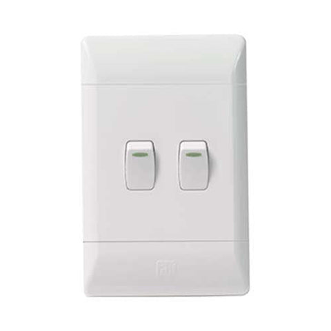 CBi PVC 2 Lever 1 Way Light Switch L122-P