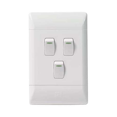 Cbi Pvc 3 Lever 1 Way Light Switch