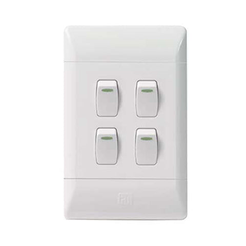 Cbi Pvc 4 Lever 1 Way Light Switch