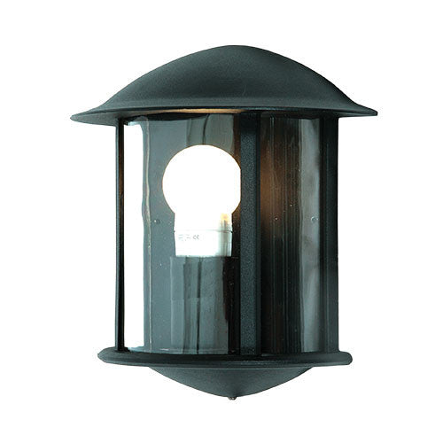 Bright Star Black Aluminium Half Lantern 3