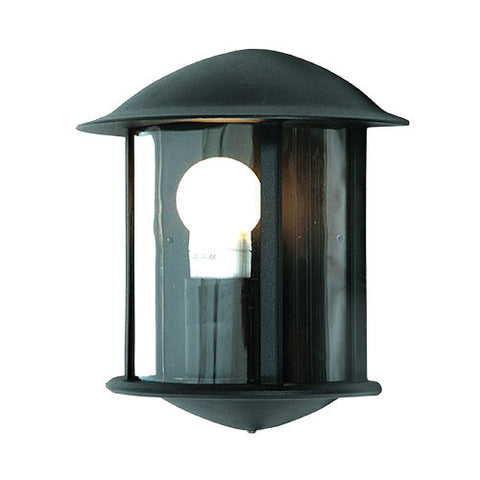 Bright Star Black Aluminium Half Lantern
