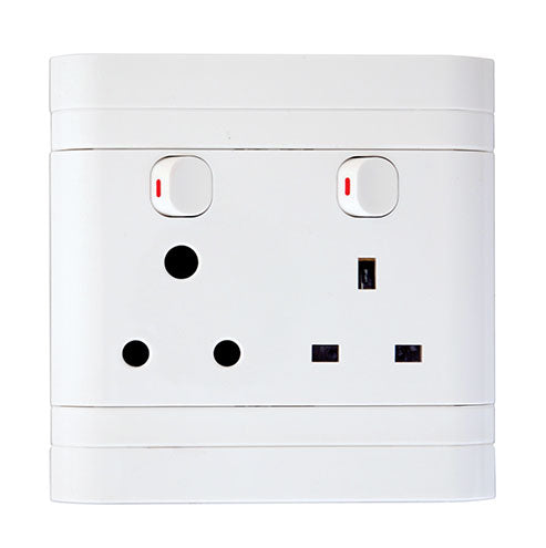 Lesco Cover Strip Monoblock Africa Switched Socket