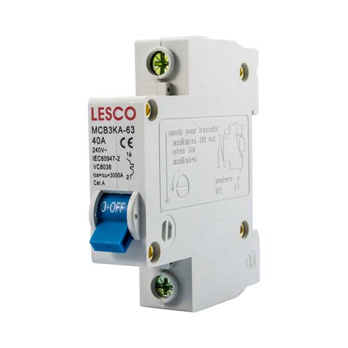 Lesco Branded Mini Circuit Breakers 1P 3Ka