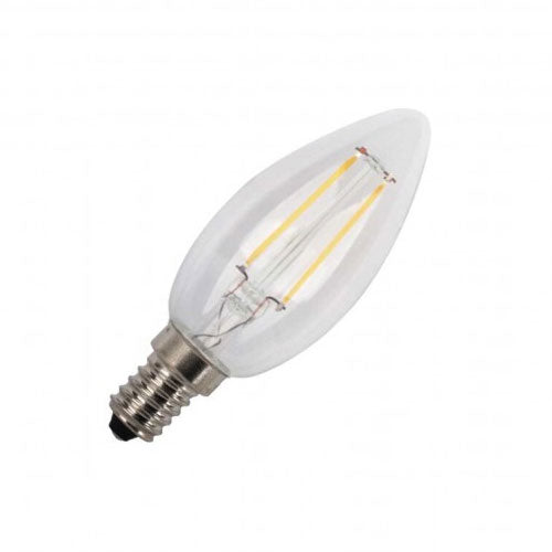 Major Tech LED Filament Candle Bulb E14 2W 220lm Warm White