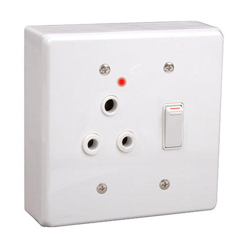 Lesco Lss Surface Single Switched Socket 16A Square