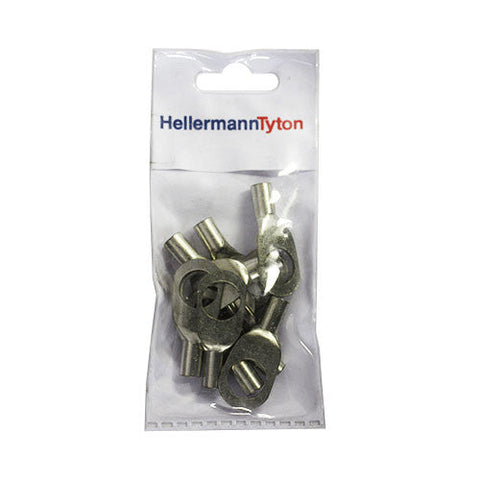HellermannTyton Cable Lugs HTB1612 - 16mm x 12mm - 10 Pack