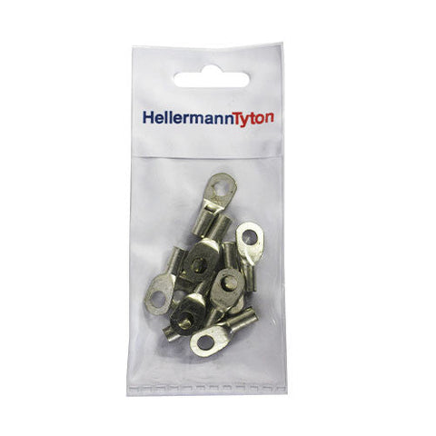 HellermannTyton Cable Lugs HTB106 - 10mm x 6mm - 10 Pack