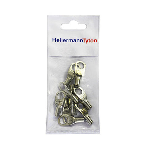 HellermannTyton Cable Lugs HTB108 - 10mm x 8mm - 10 Pack