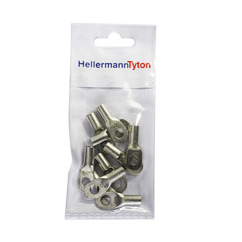 HellermannTyton Cable Lugs HTB166 - 16mm x 6mm - 10 Pack.