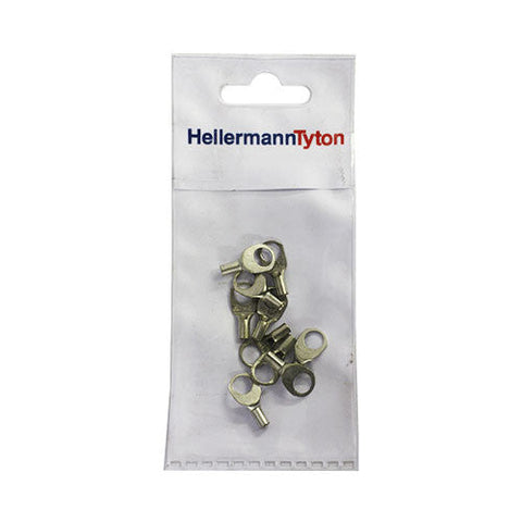 HellermannTyton Cable Lugs HTB16 - 1.5mm x 6mm - 10 Pack