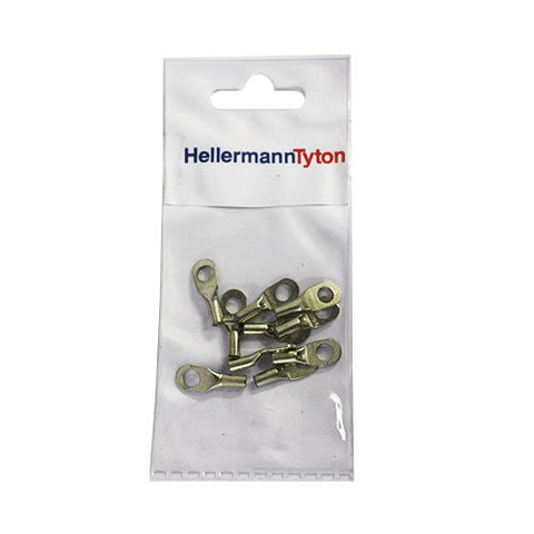 HellermannTyton Cable Lugs HTB25 - 2.5mm x 5mm - 10 Pack