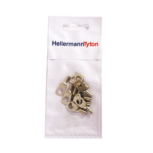 HellermannTyton Cable Lugs HTB26 - 2.5mm x 6mm - 10 Pack