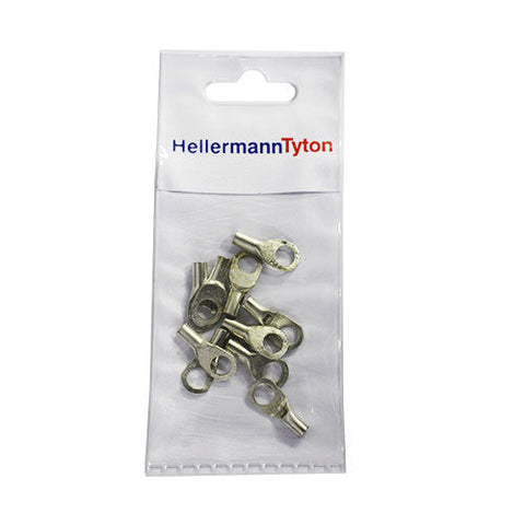 HellermannTyton Cable Lugs HTB46 - 4mm x 6mm - 10 Pack