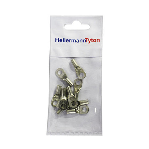 HellermannTyton Cable Lugs HTB65 - 6mm x 5mm - 10 Pack