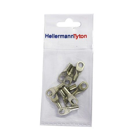 HellermannTyton Cable Lugs HTB66 - 6mm x 6mm - 10 Pack